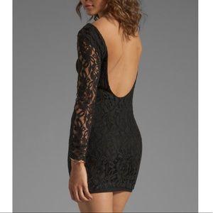 Blaque Label Long Sleeve Black Lace Dress